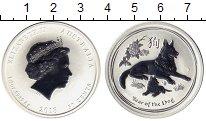 Изображение Монеты Австралия 50 центов 2018 Серебро UNC Год собаки