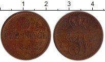 Изображение Монеты Германия Мекленбург-Шверин 3 пфеннига 1845 Медь VF