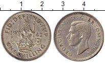 Изображение Монеты Великобритания 1 шиллинг 1942 Серебро XF-
