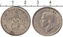 Изображение Монеты Европа Великобритания 1 шиллинг 1942 Серебро XF-