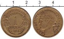 Изображение Монеты Европа Франция 1 франк 1938 Латунь XF