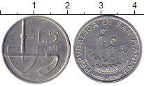 Изображение Монеты Европа Сан-Марино 5 лир 1993 Алюминий UNC