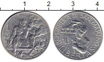 Изображение Монеты Европа Сан-Марино 5 лир 1994 Алюминий UNC