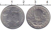 Изображение Монеты Сан-Марино 5 лир 1997 Алюминий UNC