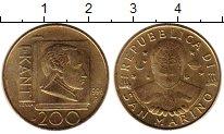 Изображение Монеты Сан-Марино 200 лир 1996 Латунь UNC
