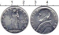 Изображение Монеты Европа Ватикан 10 лир 1953 Алюминий XF-
