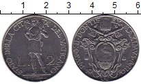 Изображение Монеты Ватикан 2 лиры 1940 Медно-никель XF