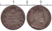 Изображение Монеты Северная Америка Канада 10 центов 1910 Серебро XF