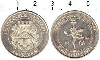 Изображение Монеты Швеция 100 крон 1980 Серебро Proof-