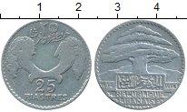 Изображение Монеты Ливан 25 пиастров 1932 Серебро XF-