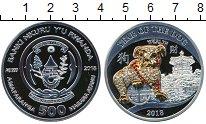 Изображение Монеты Африка Руанда 500 франков 2018 Серебро Proof