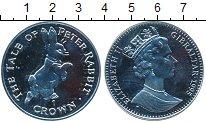Изображение Монеты Гибралтар 1 крона 1995 Серебро Proof- Кролик Питер