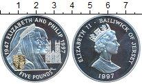 Изображение Монеты Великобритания Остров Джерси 5 фунтов 1997 Серебро Proof