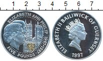 Изображение Монеты Гернси 5 фунтов 1997 Серебро Proof
