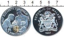 Изображение Монеты Малави 5 квач 1997 Серебро Proof