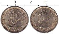 Изображение Монеты Великобритания Карибы 10 центов 1965 Медно-никель XF