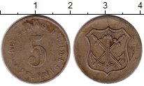 Изображение Монеты Германия : Нотгельды 5 пфеннигов 1919 Железо VF Золинген