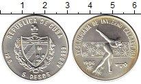 Изображение Монеты Северная Америка Куба 5 песо 1986 Серебро Proof-