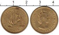 Изображение Монеты Карибы 5 центов 1965 Латунь VF