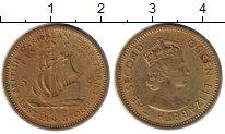 Изображение Монеты Великобритания Карибы 5 центов 1965 Латунь VF