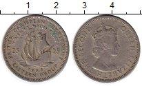 Изображение Монеты Великобритания Карибы 25 центов 1955 Медно-никель VF