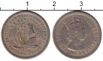 Изображение Монеты Великобритания Карибы 10 центов 1956 Медно-никель VF
