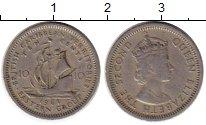 Изображение Монеты Великобритания Карибы 10 центов 1961 Медно-никель VF