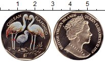Изображение Мелочь Виргинские острова 1 доллар 2019 Медно-никель UNC Фламинго