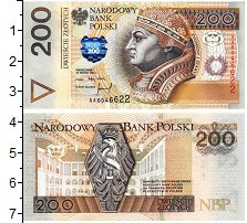 Изображение Банкноты Польша 200 злотых 1994  UNC