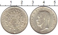 Изображение Монеты Европа Швеция 1 крона 1938 Серебро XF+