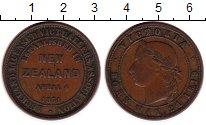 Изображение Монеты Австралия и Океания Новая Зеландия 1 пенни 1871 Медь XF
