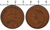 Изображение Монеты Африка ЮАР 1 пенни 1949 Бронза XF