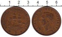 Изображение Монеты Африка ЮАР 1 пенни 1945 Бронза XF