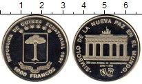Изображение Монеты Экваториальная Гвинея 1000 франков 1991 Медно-никель Proof- Триумфальная арка в