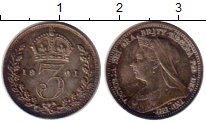 Изображение Монеты Европа Великобритания 3 пенса 1901 Серебро Prooflike