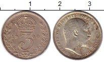 Изображение Монеты Европа Великобритания 3 пенса 1908 Серебро Prooflike