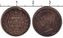 Изображение Монеты Европа Великобритания 4 пенса 1848 Серебро XF