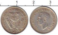 Изображение Монеты Африка ЮАР 3 пенса 1947 Серебро XF