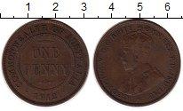 Изображение Монеты Австралия 1 пенни 1912 Бронза XF