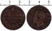Изображение Монеты Италия 5 сентесим 1861 Медь VF