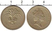 Изображение Монеты Европа Великобритания 1 фунт 1985 Латунь VF