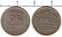 Изображение Монеты Швеция 25 эре 1954 Серебро XF Густав VI Адольф