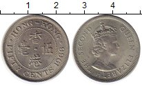 Изображение Монеты Китай Гонконг 50 центов 1966 Медно-никель XF