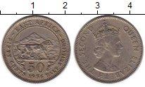 Изображение Монеты Великобритания Восточная Африка 50 центов 1956 Медно-никель XF