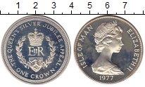 Изображение Монеты Великобритания Остров Мэн 1 крона 1977 Серебро Proof