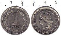 Изображение Монеты Южная Америка Аргентина 1 песо 1958 Медно-никель UNC-