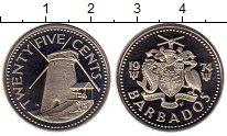 Изображение Монеты Северная Америка Барбадос 25 центов 2004 Медно-никель Proof-