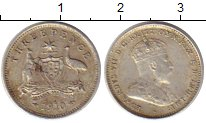 Изображение Монеты Австралия 3 пенса 1910 Серебро XF