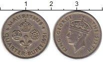Изображение Монеты Маврикий 1/4 рупии 1951 Медно-никель XF