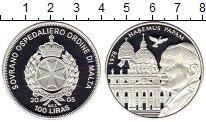 Изображение Монеты Мальтийский орден 100 лир 2005 Серебро Proof Иоанн Павел II